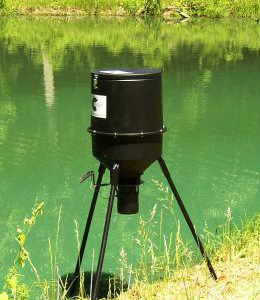 Outdoor fish and game feeder pond stocking lake for Fish feeders for ponds