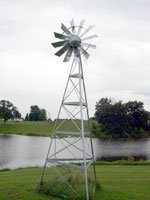 20' Galvanized Steel Aeration Windmill