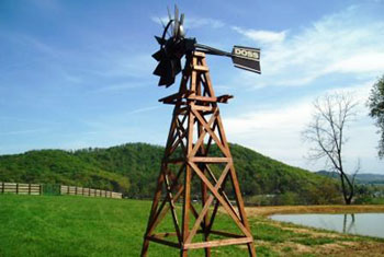 Wood Aeration Windmill for Pond Aeration